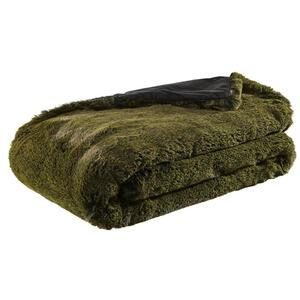 Dieter Knoll Felldecke 150/200 cm grün , Chalet , Textil , Uni , 150x200 cm , 005791000301