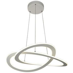 Ambiente Led-hängeleuchte , Saturn , Grau , Metall , Abstraktes , 750 mm , 150 cm , lackiert , 3 Helligkeitsstufen, Stufenschalter , 006286001501