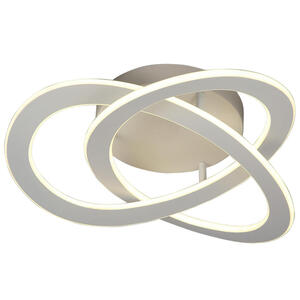 Ambiente Led-deckenleuchte , Saturn , Grau , Metall , Abstraktes , 500 mm , 13.5 cm , lackiert , 3 Helligkeitsstufen , 006286001502