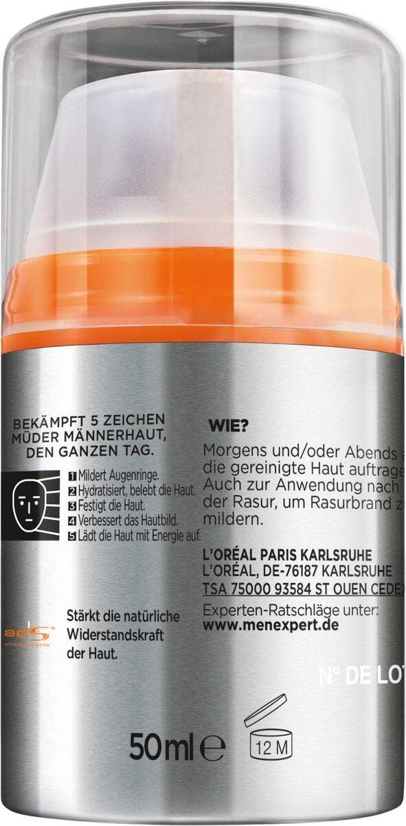 Bild 2 von L'ORÉAL PARIS MEN EXPERT Feuchtigkeitscreme »Hydra Energy 24H Anti-Müdigkeit«, Feuchtigkeitspflege mit Vitamin C & Guarana