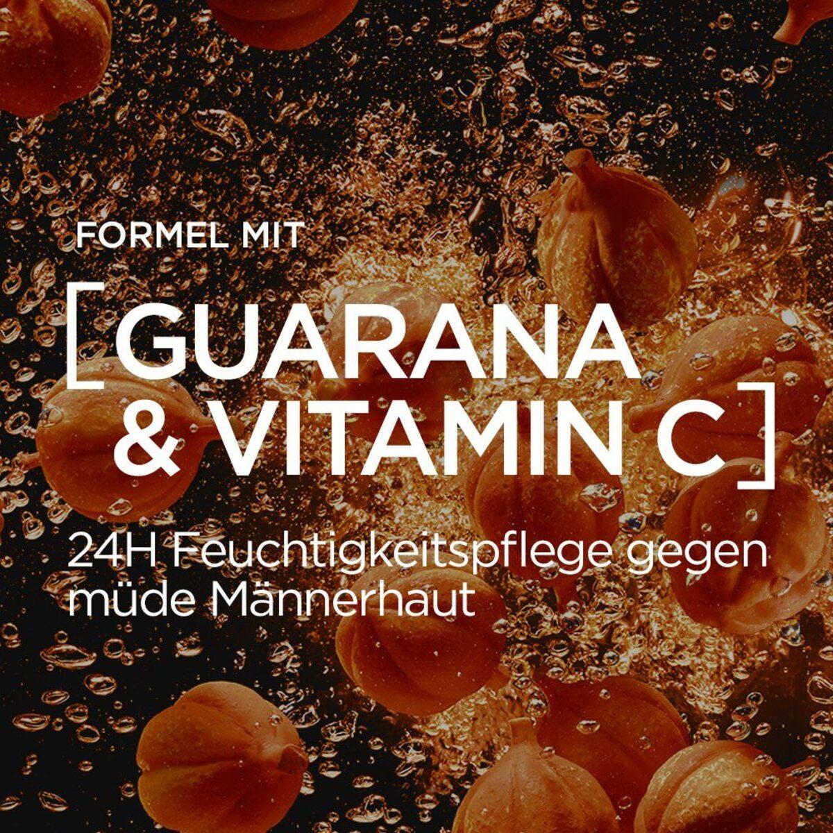 Bild 5 von L'ORÉAL PARIS MEN EXPERT Feuchtigkeitscreme »Hydra Energy 24H Anti-Müdigkeit«, Feuchtigkeitspflege mit Vitamin C & Guarana