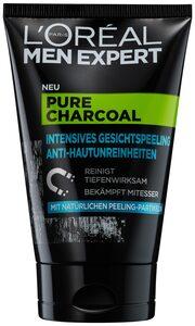 L'ORÉAL PARIS MEN EXPERT Gesichtspeeling »Pure Charcoal«, beseitigt Pickel, Mitesser & fettige/ölige Haut