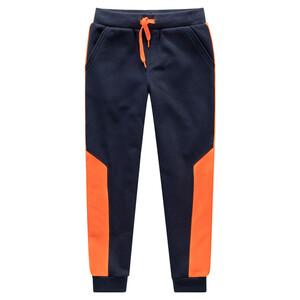 Jungen Jogginghose mit orangen Einsätzen