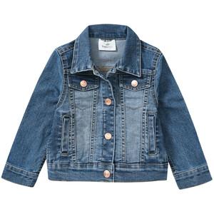 Mädchen Jeansjacke mit Used-Waschung