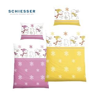 Kinder-Biber-Bettwäsche 100 % Baumwolle,  100 x 135/40 x 60 cm  Kinder-Betten-Set 2-teilig, atmungsaktiv und temperaturausgleichend, bestehend aus: 1 Steppdecke, 100 x 135 cm und 1 Kopfkissen, 40 x