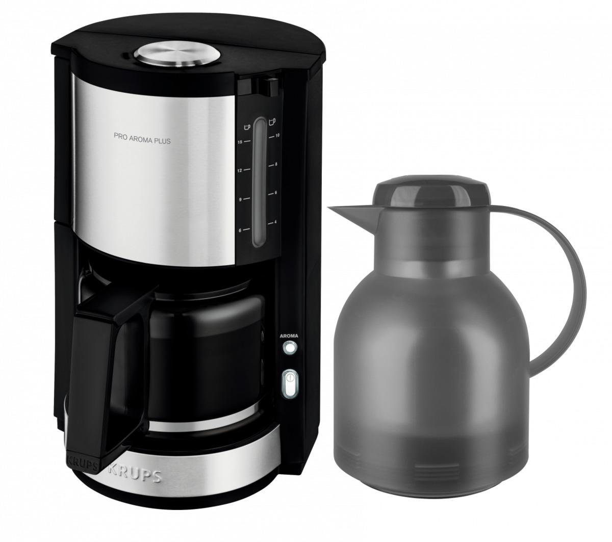 Bild 1 von Krups Kaffeemaschine ProAroma Plus KM3210 inkl. Emsa-Kanne (grau)
