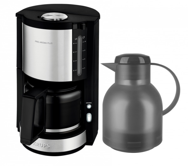 Krups Kaffeemaschine ProAroma Plus KM3210 inkl. Emsa-Kanne (grau)