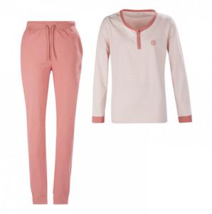 Mexx Damen-Pyjama, Pfirsich/dunkel-rose