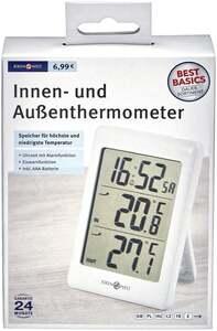 IDEENWELT Best Basics Innen- und Außenthermometer
