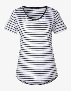 Street One - Streifen-Shirt mit Kontrastkante