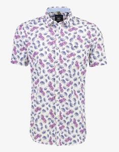 Lerros - kurzärmeliges Freizeithemd mit Palmwedelprint