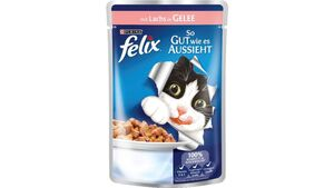 felix Katzennassfutter So gut wie es aussieht in Gelee mit Lachs