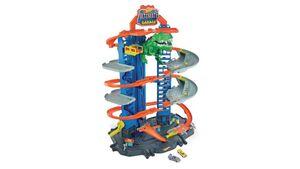 Mattel - Hot Wheels - Megacity Parkgarage mit T-Rex-Angriff