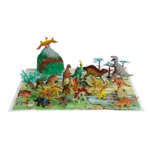Dinosaurier Spielfiguren-Set mit Spielmatte und Zubehör