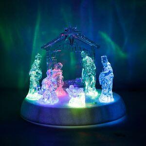 LED-Weihnachtskrippe mit Sound