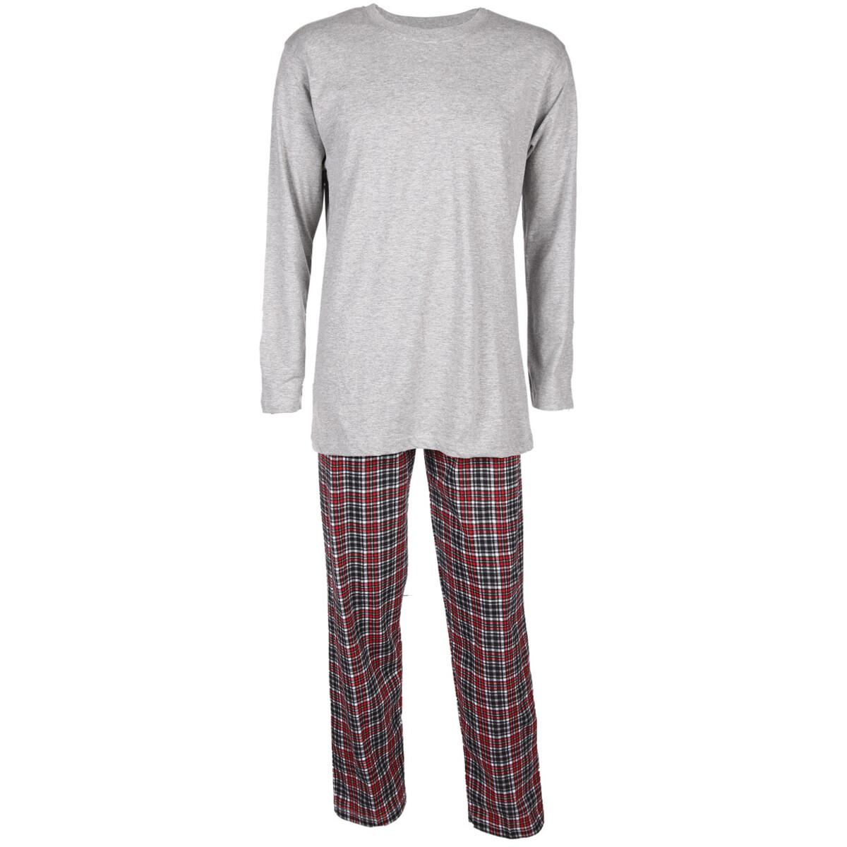 Bild 1 von Herren Pyjama mit langer Flanellhose