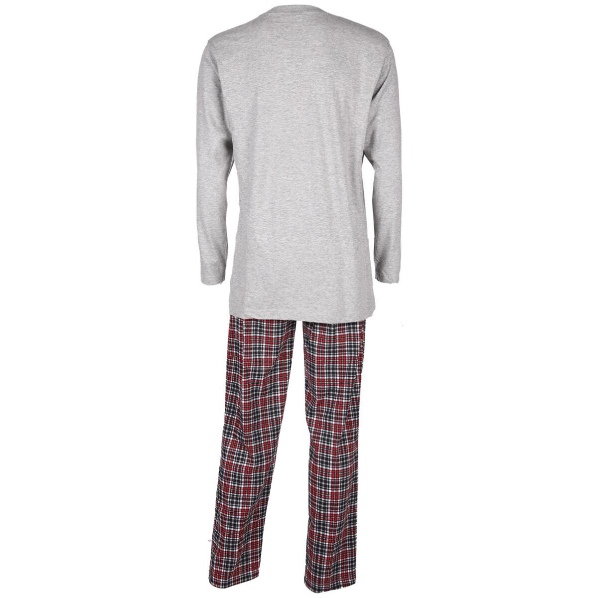 Bild 2 von Herren Pyjama mit langer Flanellhose