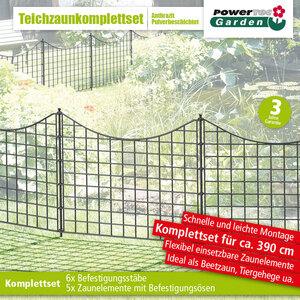 Powertec Garden Teichzaun Unterbogen, Anthrazit
