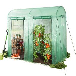 Powertec Garden Tomaten Gewächshaus mit 2 Toren und 4 Fenstern