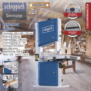 Scheppach Bandsäge HBS261