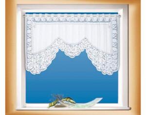 Scheibengardine M-Bogen weiß ca. 70 x 150 cm