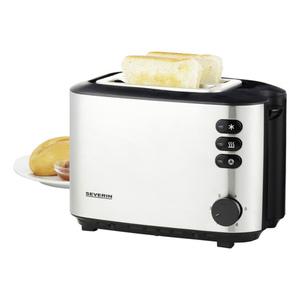 Severin Toaster AT 2514 EDS gebürstet-schwarz
