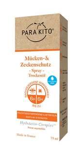ParaKito Mücken- & Zeckenschutz Spray Trockenöl HydrActiv-Complex
