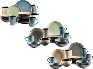 MÄSER Serie Scuro, Keramik 20-teiliges Kombiservice, Steinzeug