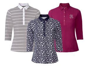 ESMARA® Poloshirt Damen, mit Webkragen, 3/4-Ärmel, aus Baumwolle und Elasthan