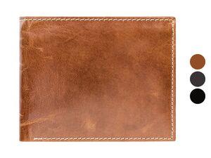 LIVERGY® Geldbörse Herren, mit Kleingeldfach, aus Leder