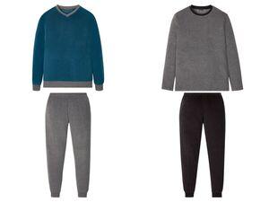 LIVERGY® Pyjama Herren, mit Gummizugbund, aus Frottee