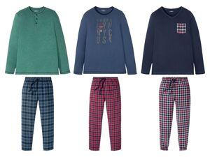 LIVERGY® Pyjama Herren, mit Bindeband, mit Baumwolle
