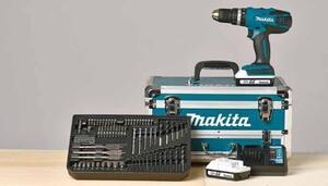 Makita Akku-Schlagbohrschrauber HP457DWEX4 im Alu-Koffer mit 70-tlg. Zubehör