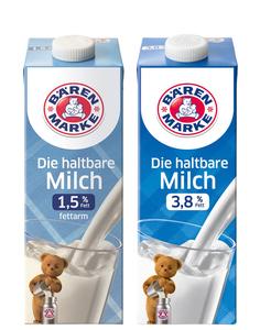 Bärenmarke H-Milch 3,8% & 1,5%