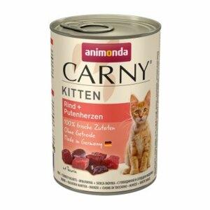 Animonda CARNY Kitten 6x400g Rind & Putenherzen