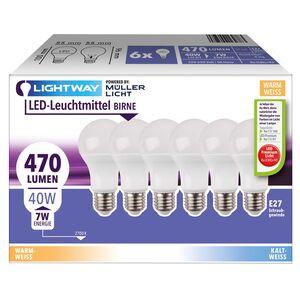 LIGHTWAY LED-Leuchtmittel, 6er