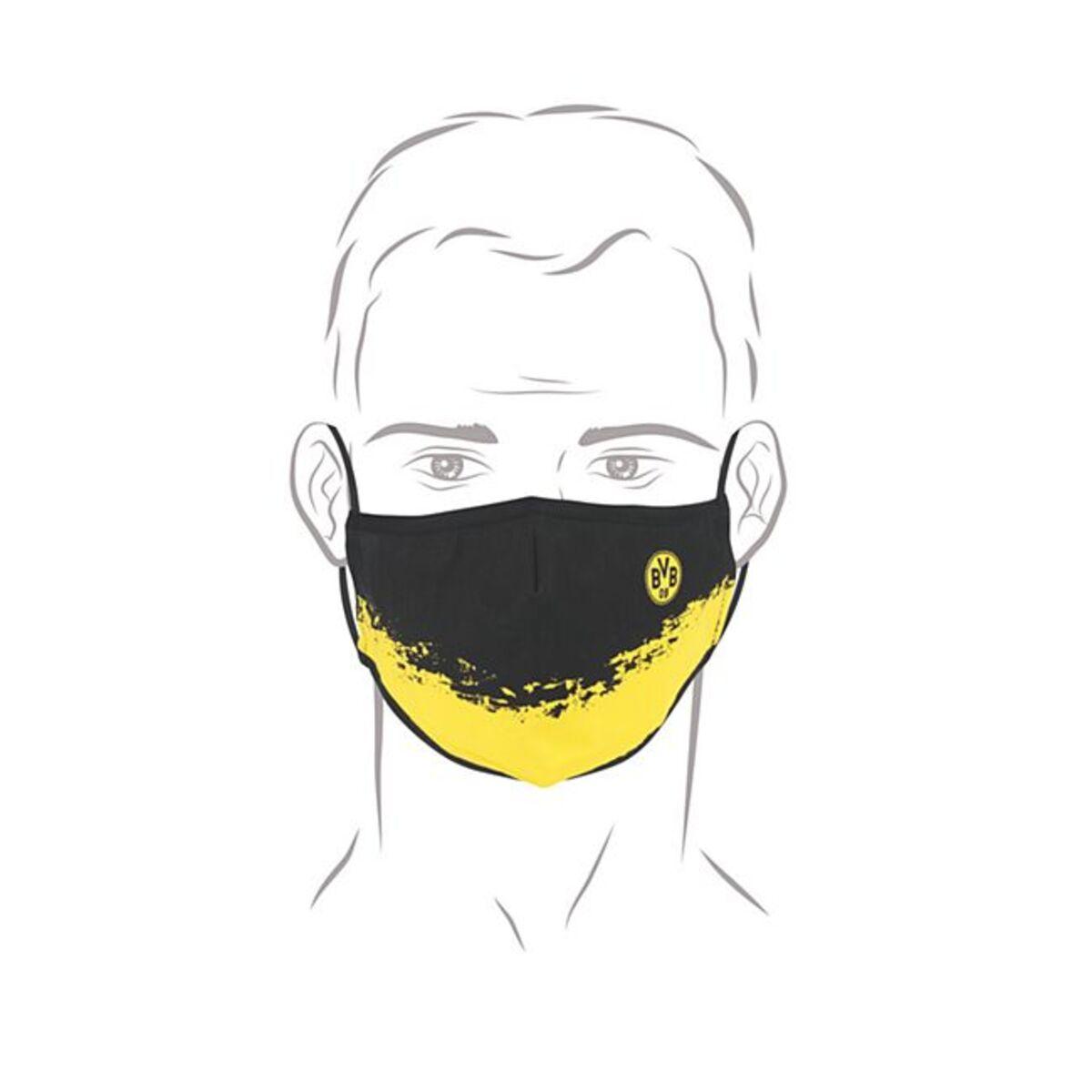 Bild 1 von BVB Mund-Nasen-Maske gelb/schwarz