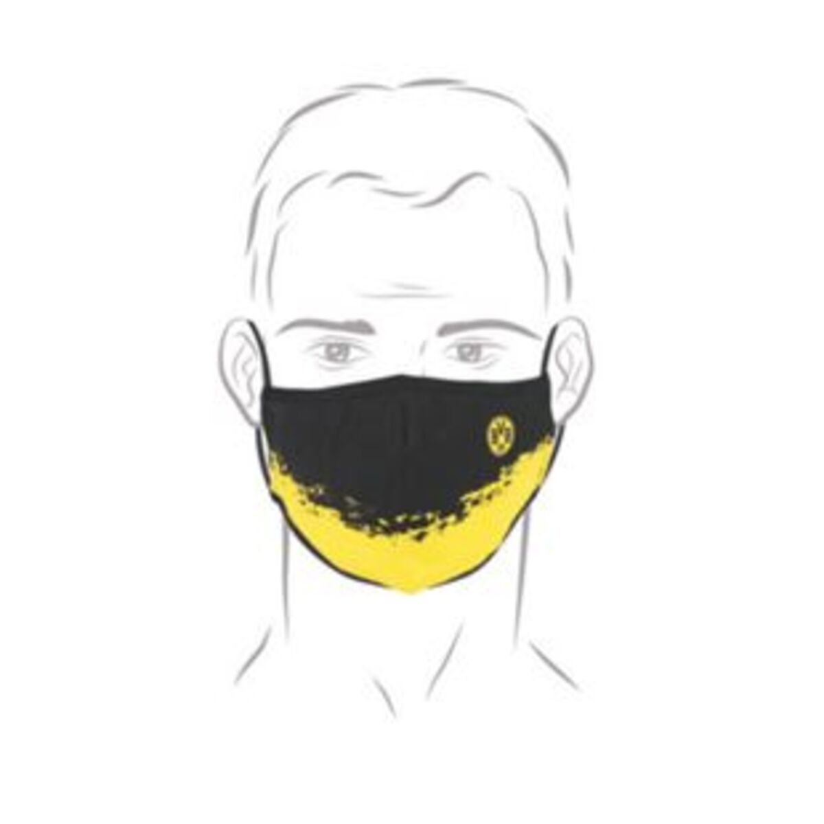 Bild 2 von BVB Mund-Nasen-Maske gelb/schwarz