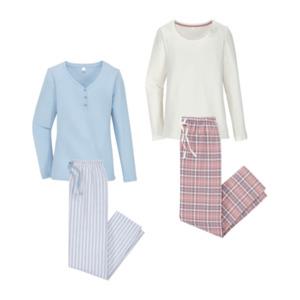 QUEENTEX     Flanell-Pyjama
