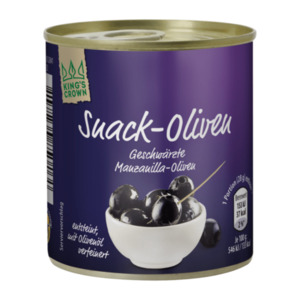 KING'S CROWN     Snack-Oliven