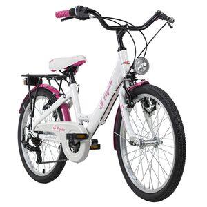 KS Cycling Kinderfahrrad 20'' Papilio für Mädchen