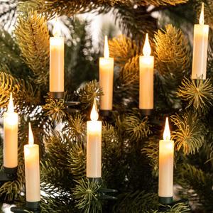 I-Glow Kabellose LED-Weihnachtskerzen 10er