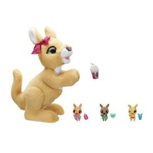 FurReal Friends Mama Josie Känguru - interaktives Plüschtier, 3 kleine Känguru-Babys und 4 Accessoires