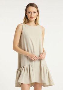 Freizeitkleid Stillkleider beige Gr. 34 Damen Erwachsene