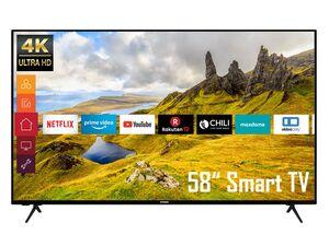 TELEFUNKEN XU58K521 58 Zoll Fernseher (Smart TV, Prime Video / Netflix, 4K UHD mit Dolby Vision HDR / HDR 10, Triple-Tuner, HD+)