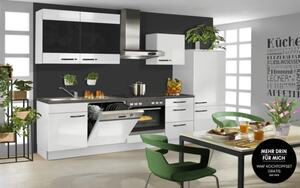 Einbauküche PN 220 in weiß, Zanker Geschirrspüler KDI10003XB