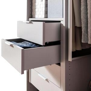 Hom`in Schubkasteneinsatz für 50er elemente grau, silberfarben , Matrix -Hom In- , 2 Schubladen , 50x29x45 cm , Nachbildung , Soft-Close , 001172005606