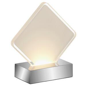 Boxxx Led-tischleuchte , Acryl *sb* , Chromfarben , Kunststoff , 6x15x15 cm , glänzend , Schnurschalter , 004760001102