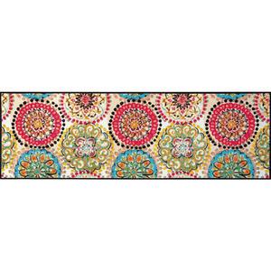Esposa Fußmatte 60/180 cm graphik multicolor , Vintage Fresko 061007 , Textil , 60x180 cm , rutschfest, für Fußbodenheizung geeignet , 004336020196