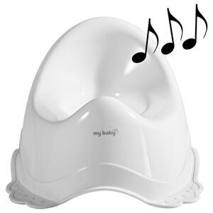 My Baby Lou Töpfchen , Snow -  MIT Musik , Weiß , Kunststoff , 30x23x35 cm , mit Musik , 005048000907